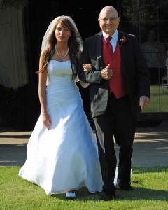Daddy walking my beautiful Ashley down the aisle.