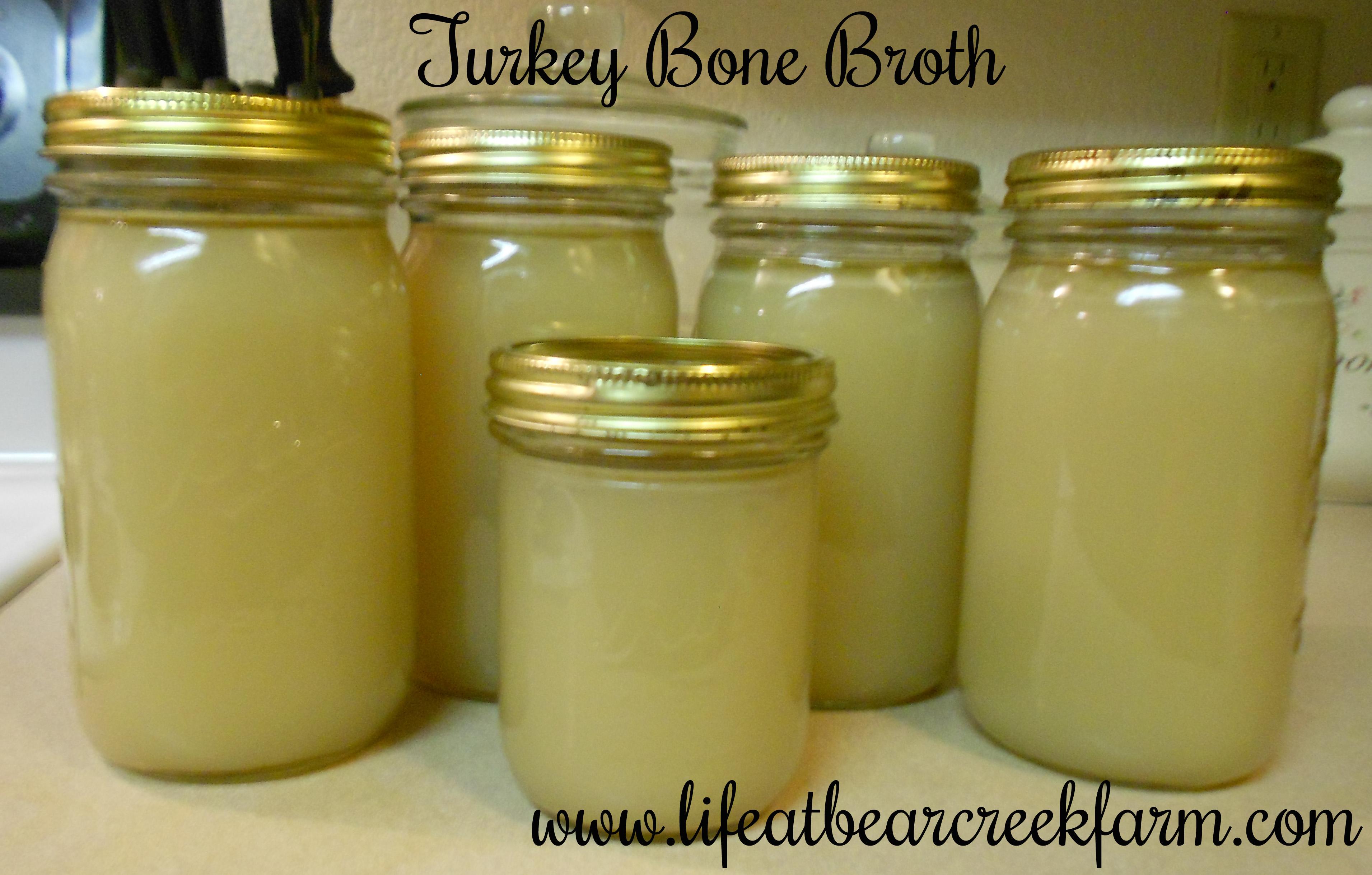 Bone broth ready for freezer